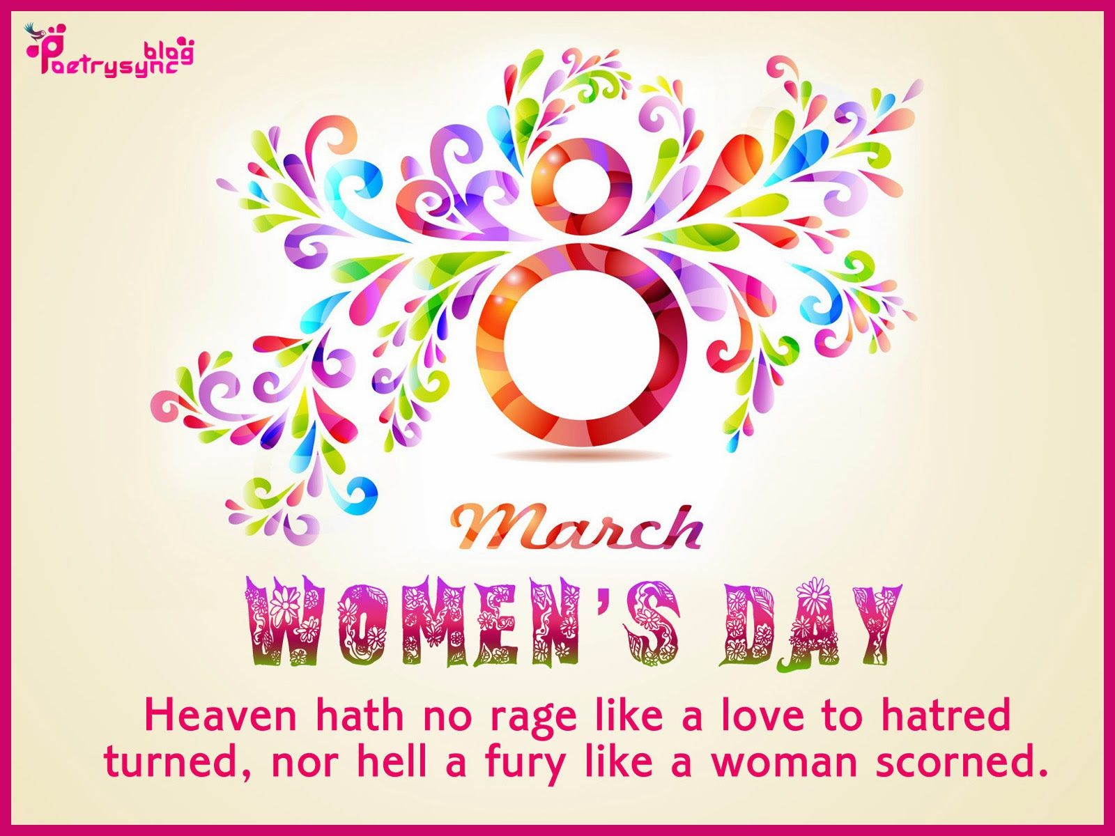 Happy Womens Day Wishes Quote Photo 8 March Image  Women -4511