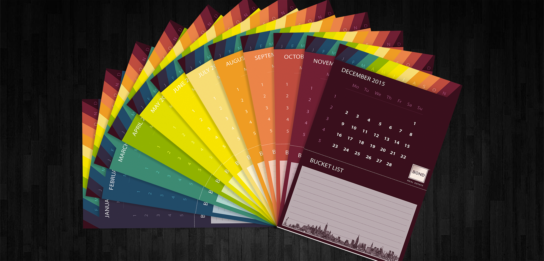 colorful calendar design