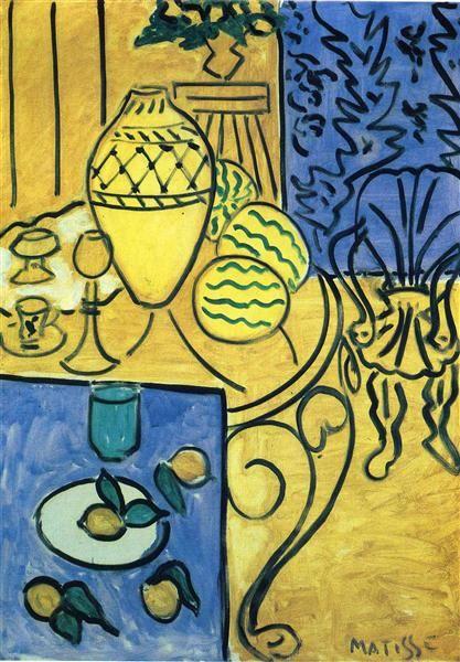 Interior in Yellow - Matisse Henri