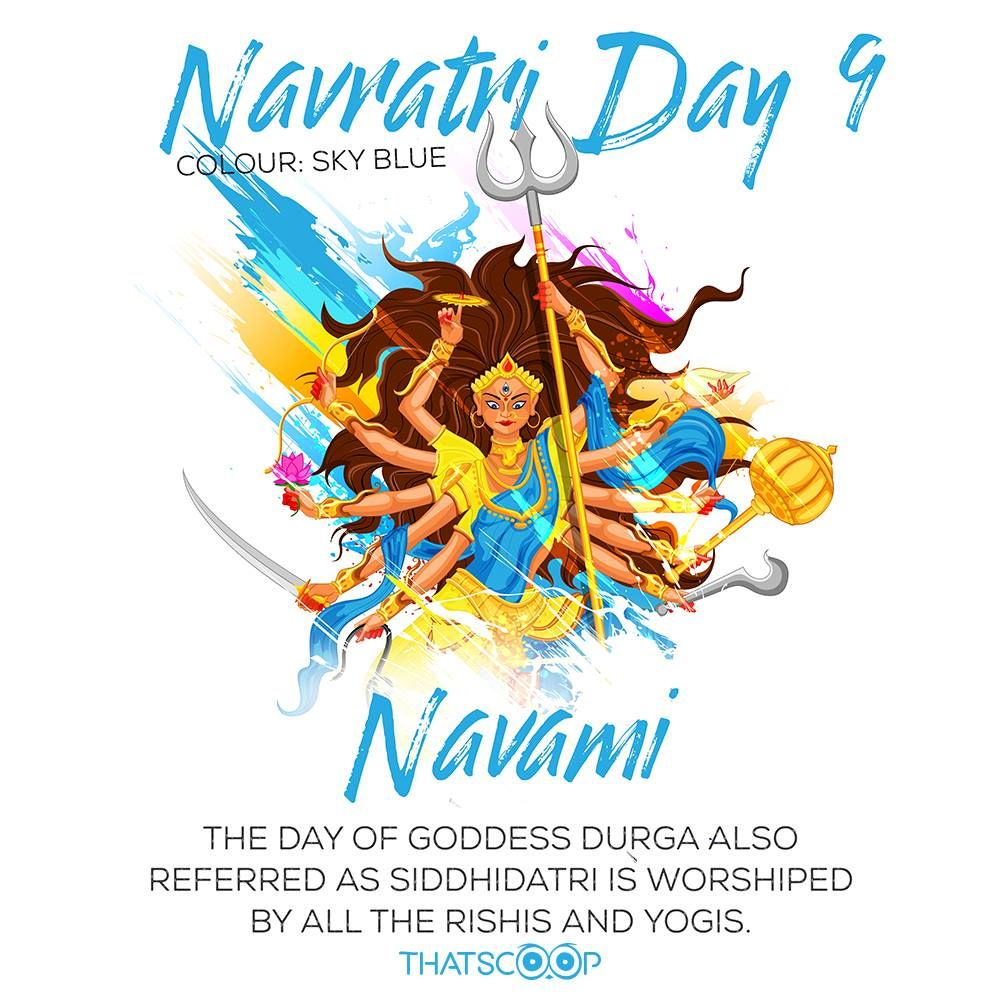 Navratri Quotes Facts Day Blue