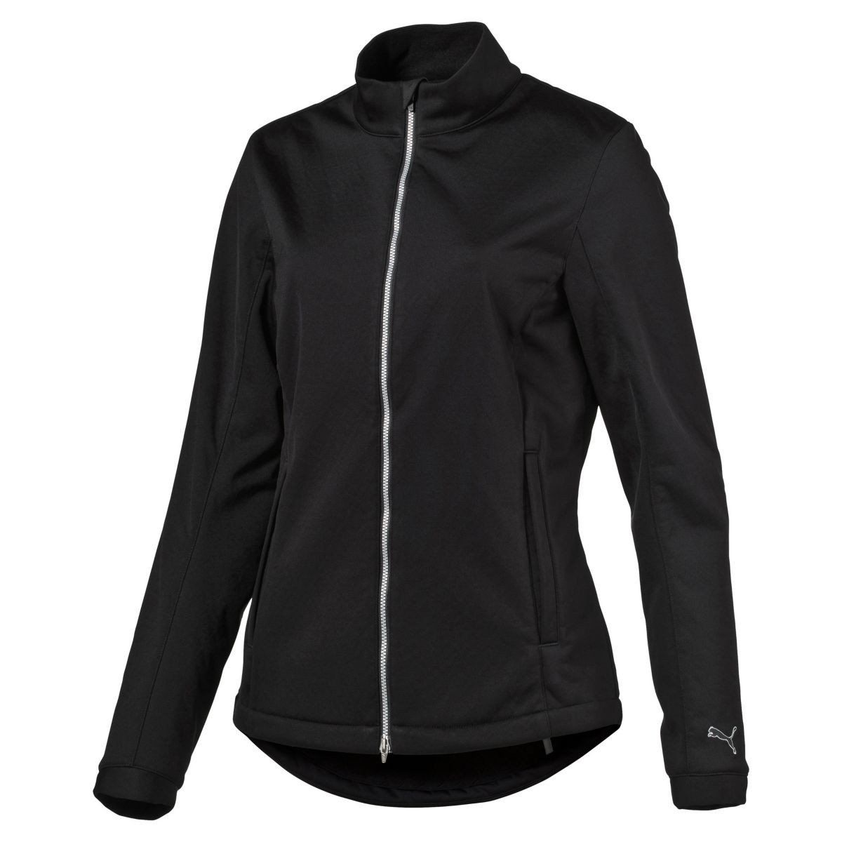 Puma Golf Women's Black PWRWARM Wind Golf Jacket