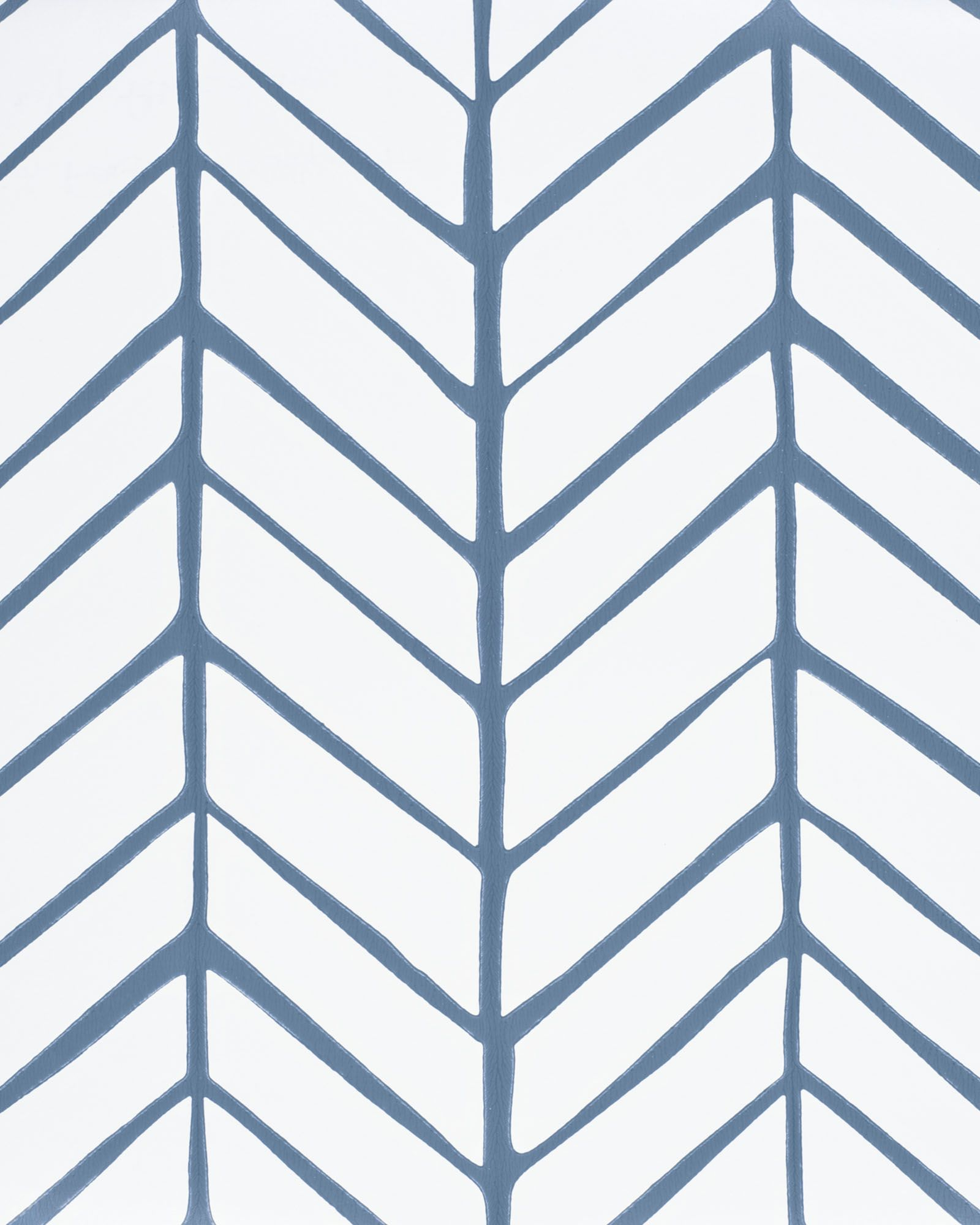 Feather Wallpaper Denim... by Serena and Lily Feather