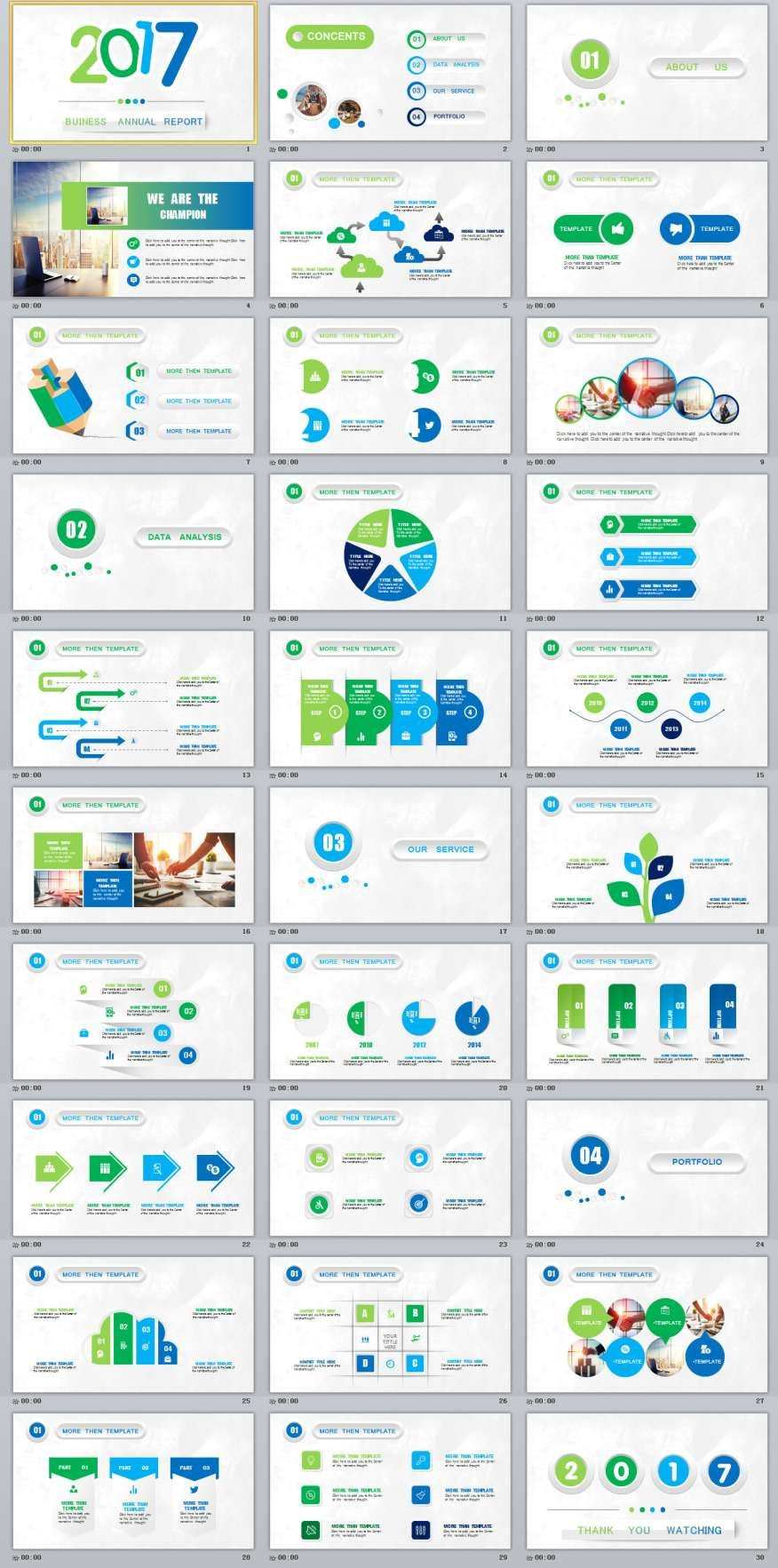 30 multicolor annual report PowerPoint templatesThe highest quality PowerPoint Templates and Keynote Templates download
