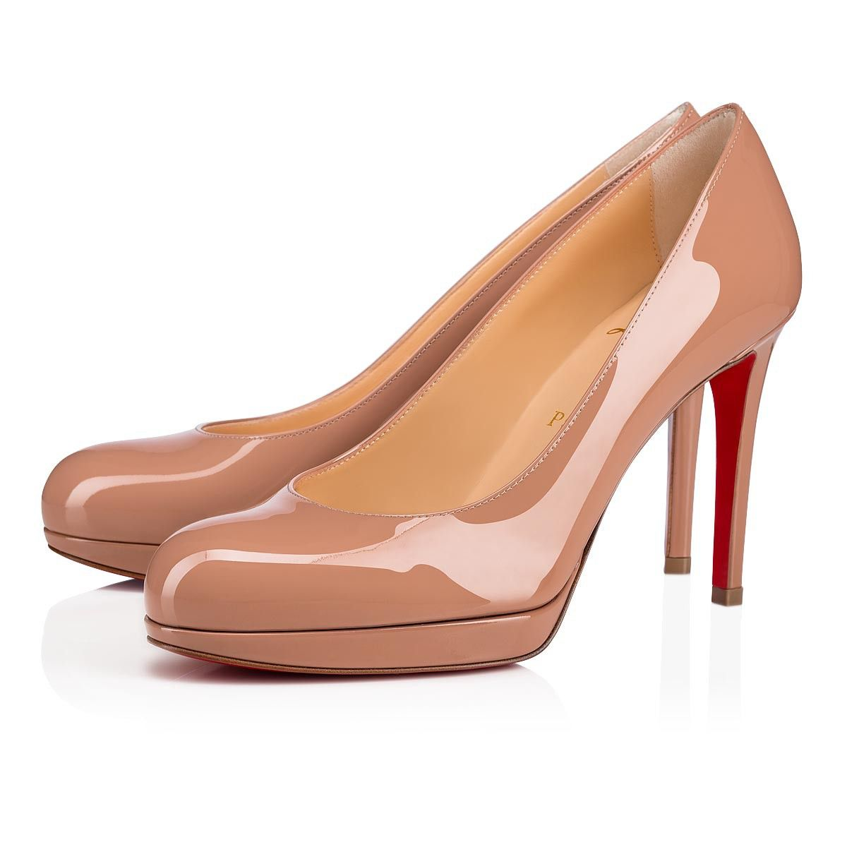 outlet store 794a1 c165e NEW SIMPLE PUMP VERNIS CALF 100 Nude Cuir De Veau Vernis ...