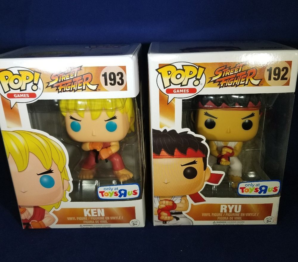 Ryu Chun-Li Funko POP Ken Games ~ STREET FIGHTER II VINYL FIGURE SET ~ Cammy