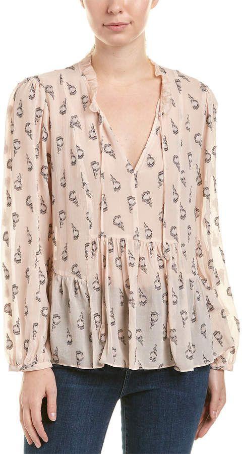 fe8d61fe488d3 Cute top! Rebecca Taylor Tulip Clip Silk-Blend Top  afflink  onsale ...