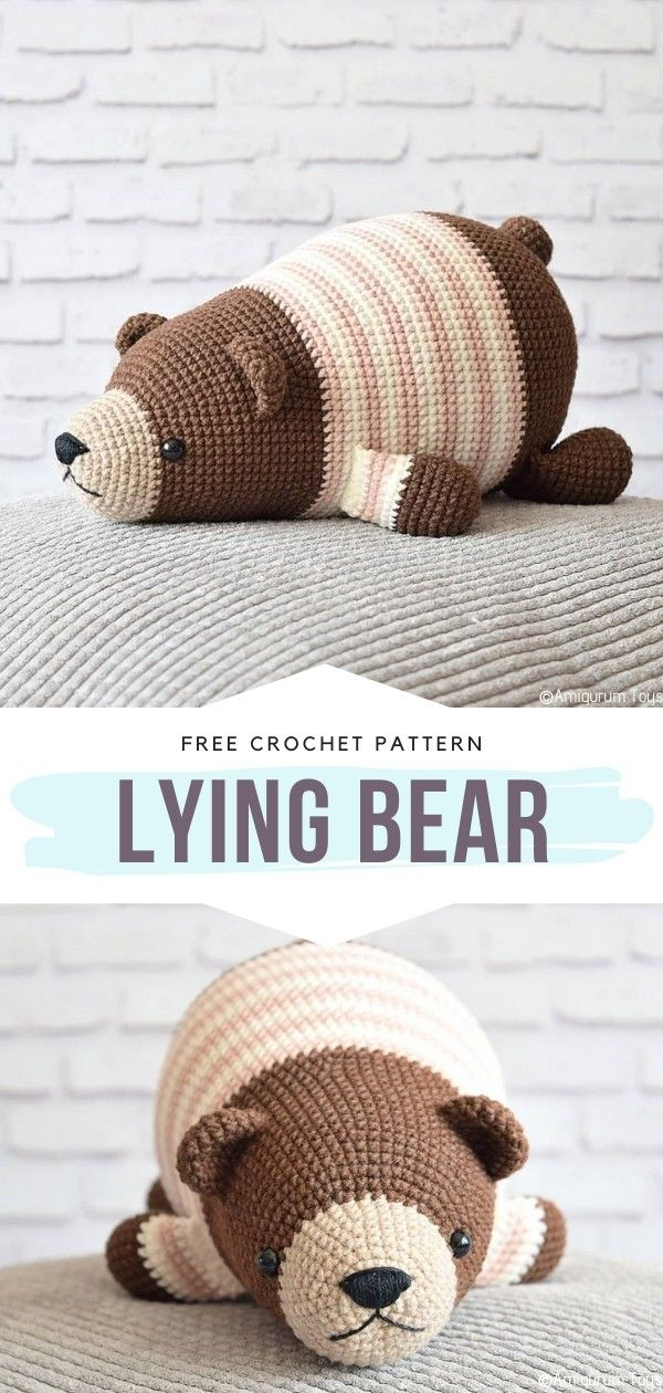 How to Crochet Lying Bear