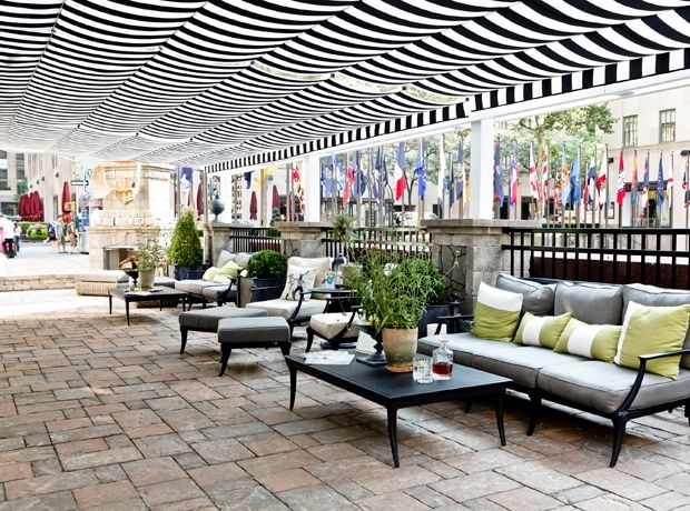 Sunbrella Patio Covers Retractable Patio Cover At Rockefeller Center |  Shadefx Canopies