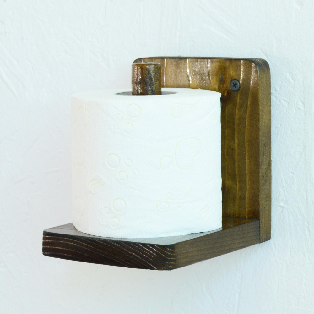 Toilet Loo Roll Paper Holder Wooden Bathroom Wall Mounted Roll Etsy In 2020 Toilet Roll Holder Diy Diy Toilet Paper Holder Toilet Roll Holder