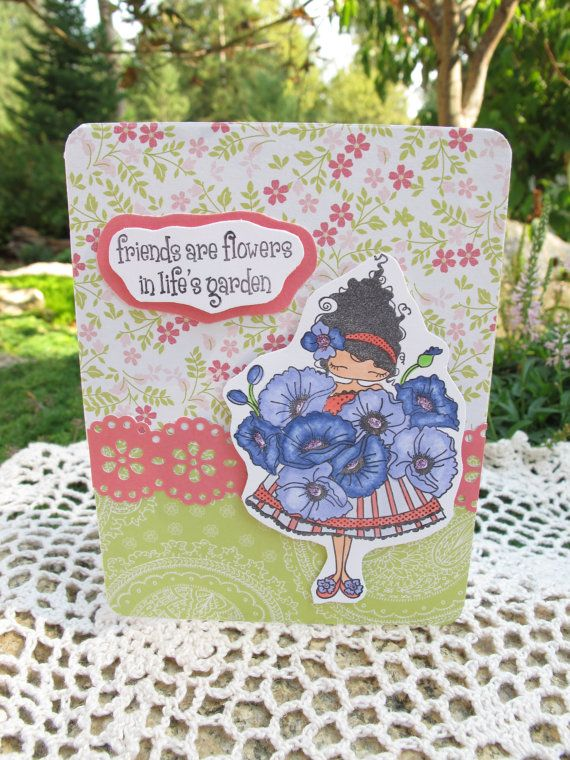 LuLu Loves Poppies Friends Card by LeCardShoppe on Etsy,