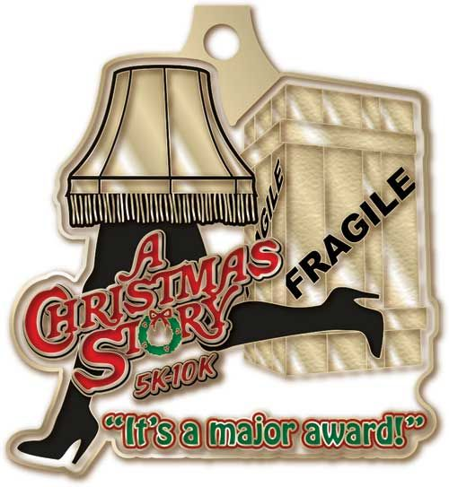 Christmas Running Medals.A Christmas Story Run 5k 10k Cleveland Oh Dec 7th 9am