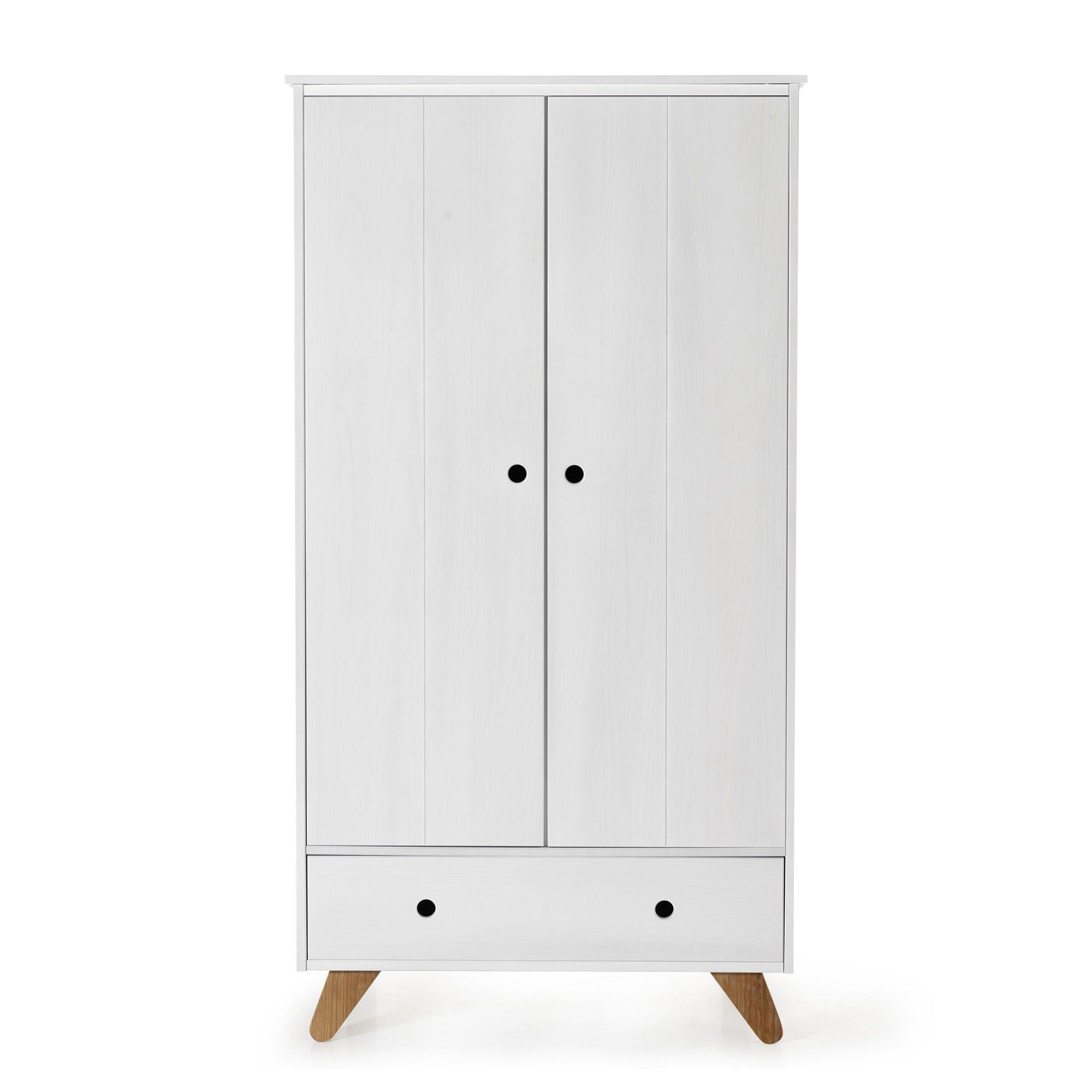 Armoire 2 portes et 1 tiroir en pin massif pour enfant - Tipi ...