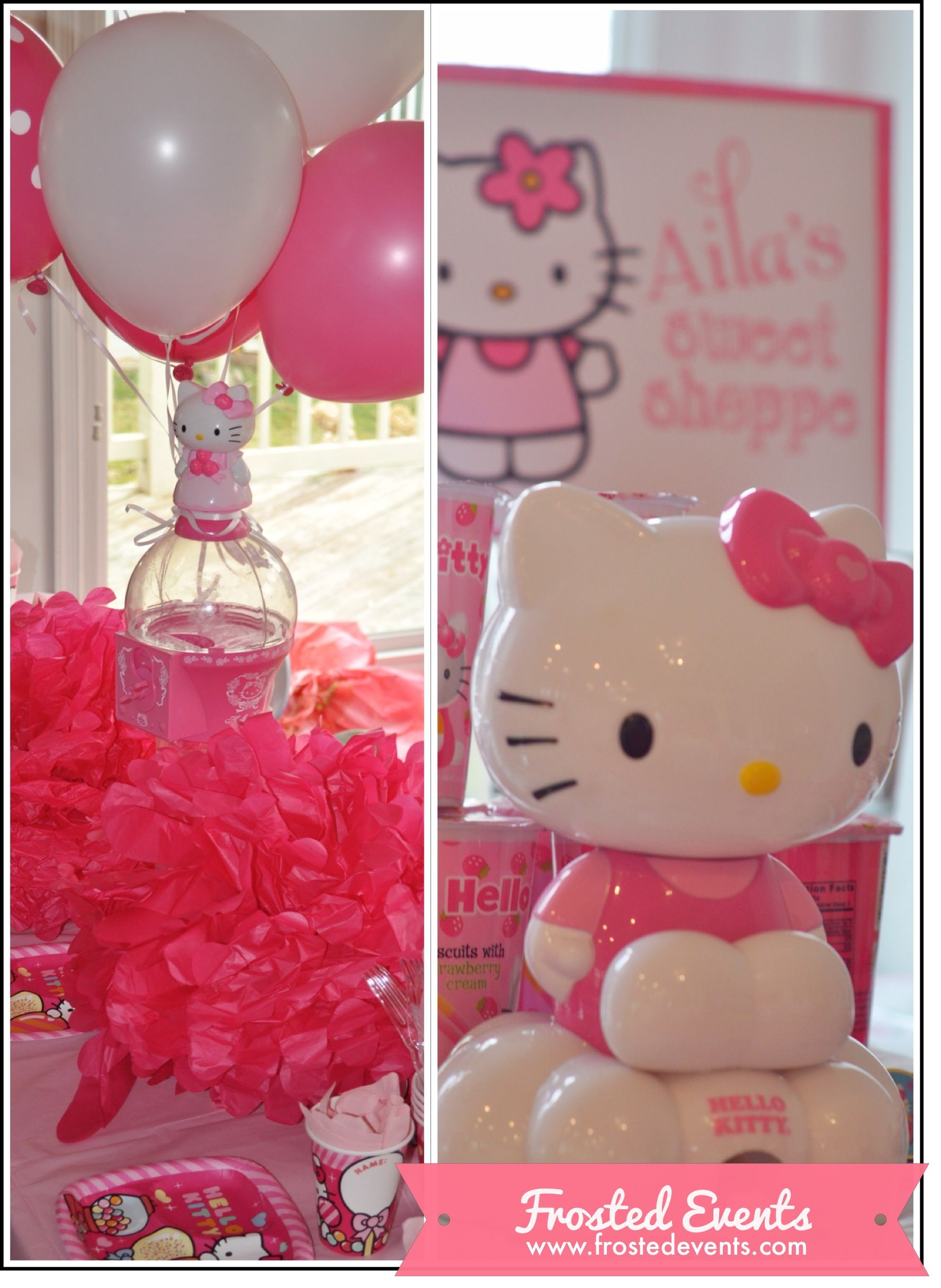 Adorable Hello Kitty Party Frosted Events Hello kitty theme party