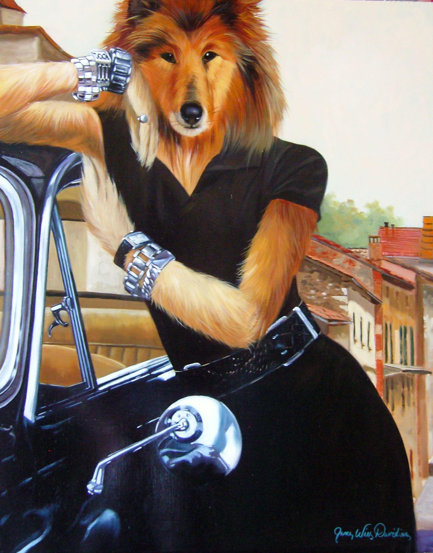 Celebrity Dog Classy Lassy Celebrity Dogs Animal Portraits Art Dogs Playing Poker