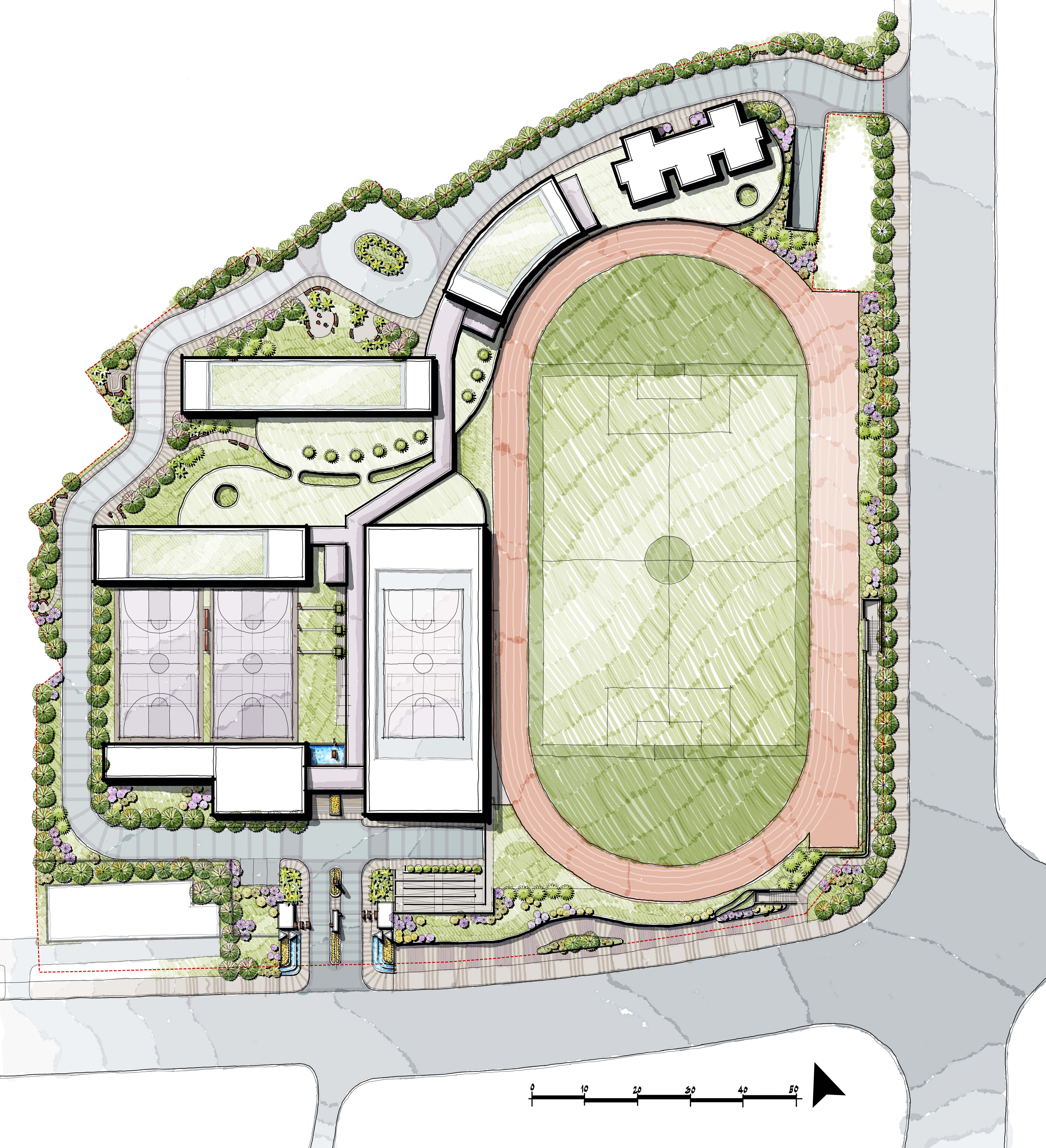 School Master Plan Landscape Design School Building Plans Master Plan Site Plan Design