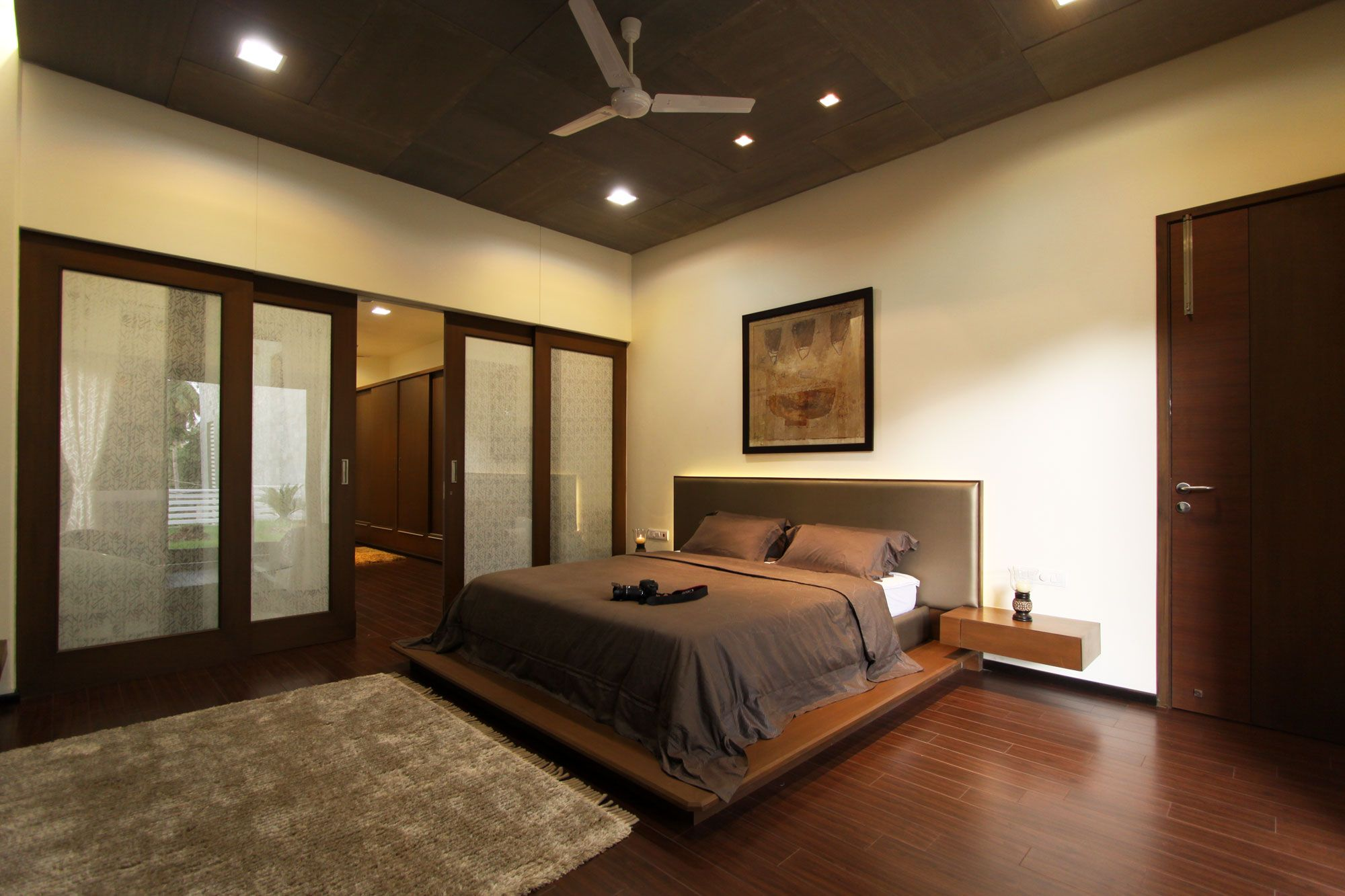 Simple Ceiling Fan Calm Ceiling Color In Brown Bedroom Ideas