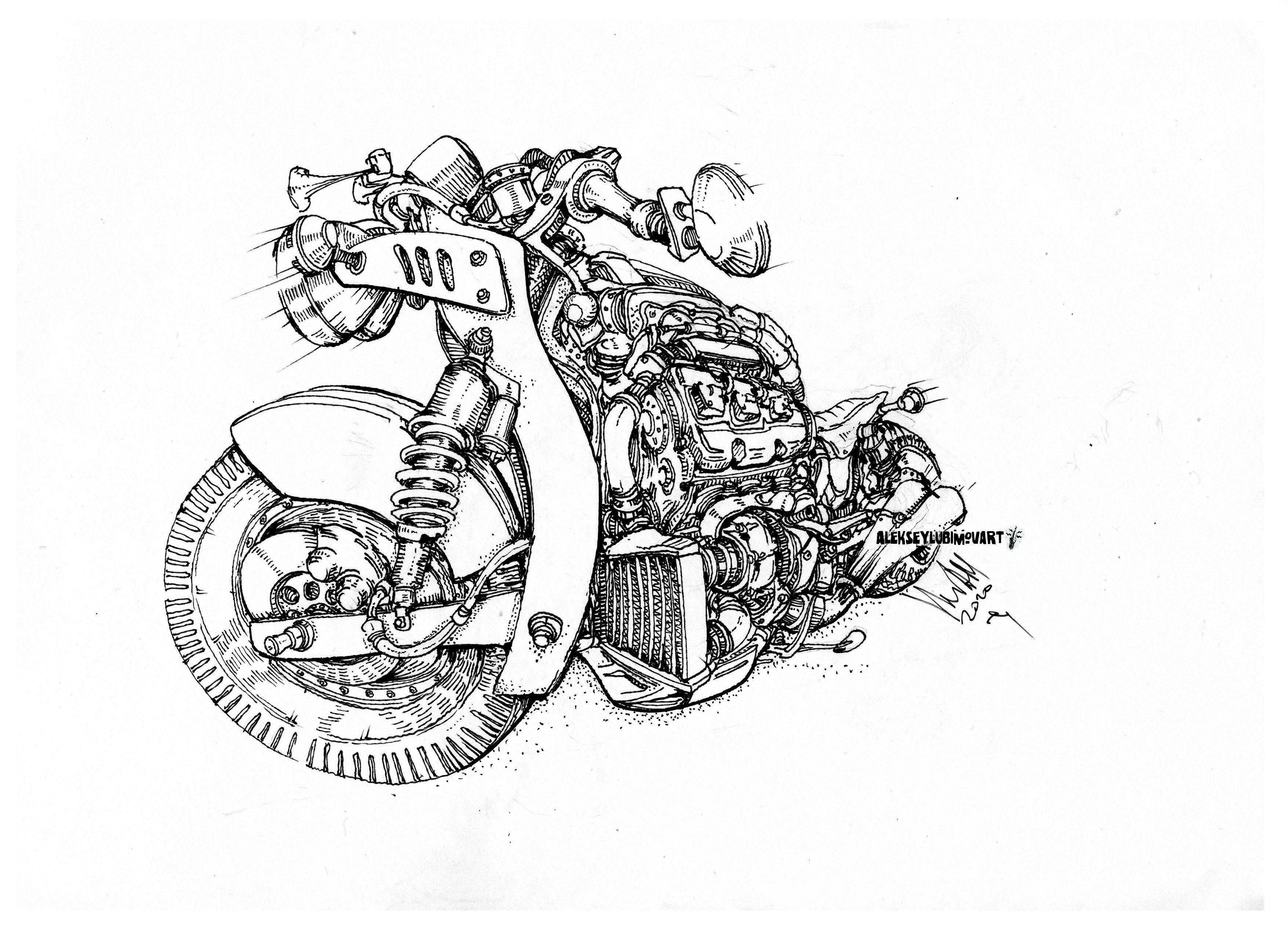Author Aleksey Lubimov  #cardrawings #turbo  #alekseylubimov_art #алексейлюбимовбиомеханика #алексейлюбимов #стимпанк #дизельпанк #биомеханика #marchofrobots #steampunk #dieselpunk #biomechanical #lineart #inking #motor #inktober2020 #technodoodling
