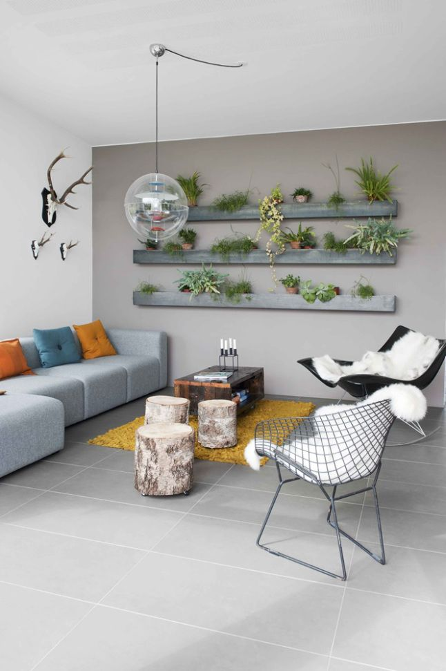 étagères de plantes DÉCOR VÉGÉTAL Pinterest Walled garden - dalle beton interieur maison
