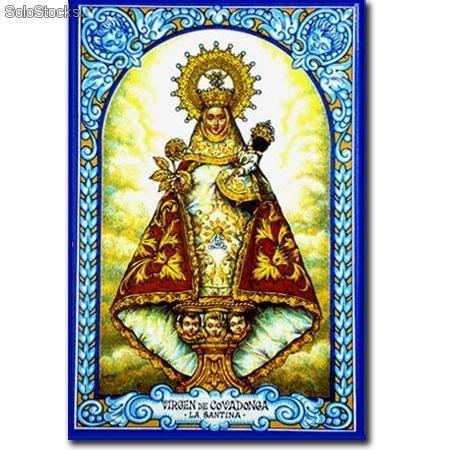 Virgen De Covadonga Virgen De Covadonga Pintura Cristiana Punto De Cruz Navideño