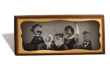 El padre de la fotografía, Louis Daguerre, es homenajeado con un Doodle
