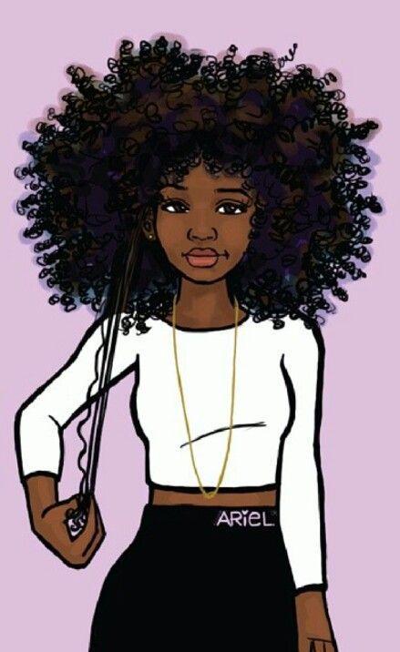 Black Curly Hair Cartoon Characters : black, curly, cartoon, characters, Amazing, Black, Pictures, Paintings, Magic, Cartoon,, Drawings, Girls