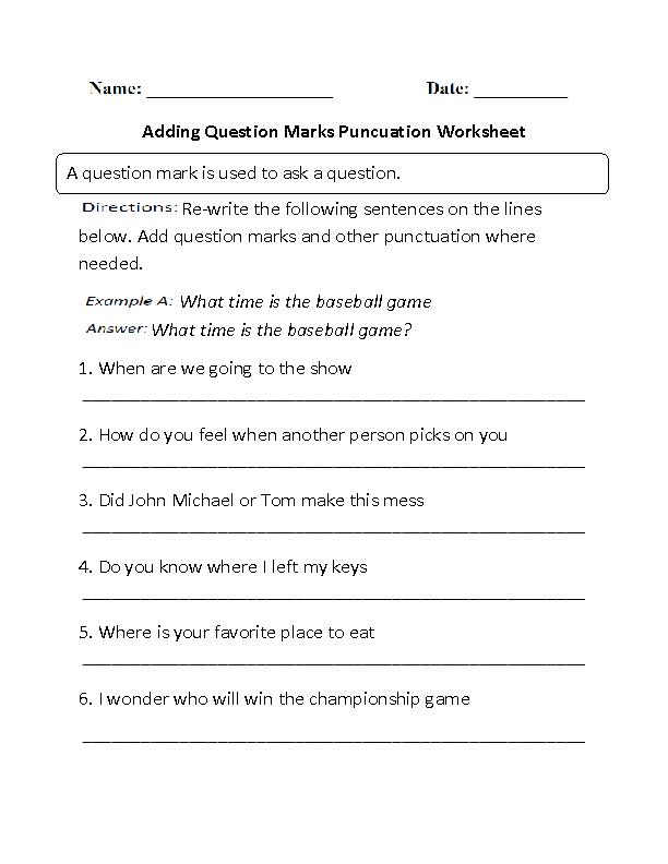 adding question marks punctuation worksheet part 1 beginner board. Black Bedroom Furniture Sets. Home Design Ideas