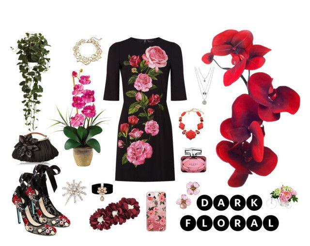 """Unbenannt #160"" by majalina123 on Polyvore featuring Mode, Dolce&Gabbana, Nearly Natural, Casetify, Oscar de la Renta, Chanel, Gucci, Betsey Johnson, Lucky Brand und Jennifer Behr"