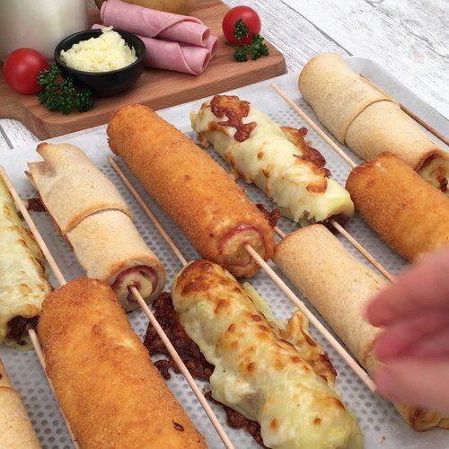 Receta Botana de banderillas y otras recetas Chefc