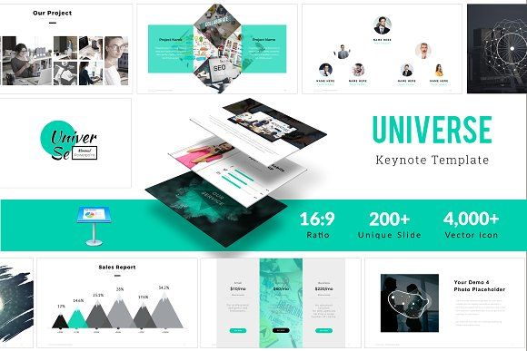 Universe Keynote Template by ZAAS on @creativemarket Keynote - keynote template