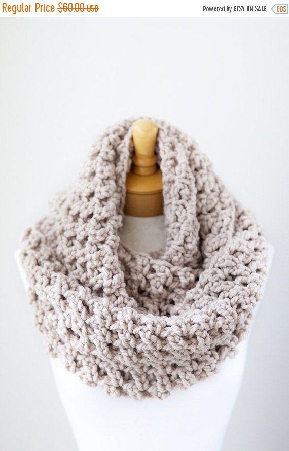 Bufanda beige grueso venta de verano hecha a mano del ganchillo ...
