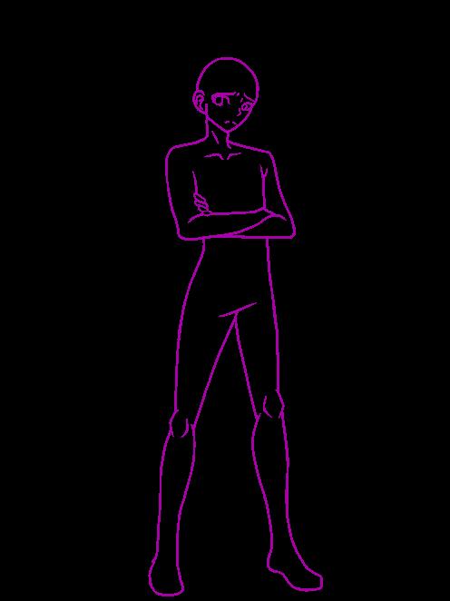 Nagito Komaeda Fullbody Base By Randomgirl401 Anime Poses Reference Drawing Base Human Drawing