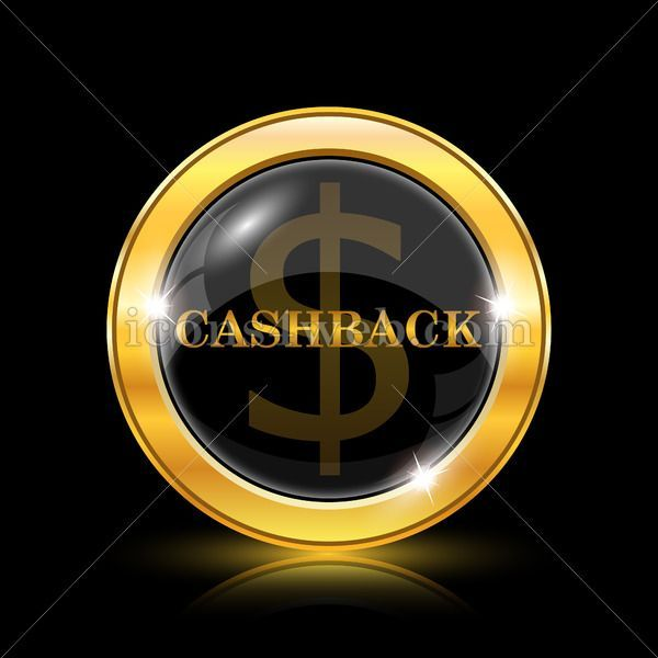 Cashback golden icon Cashback golden button Royalty free icon for web design available in various sizes High quality internet button