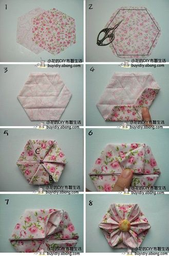 Un Hexagone Original En Pliage Origami En Tissu Couette Hexagone Artisanat De Couture