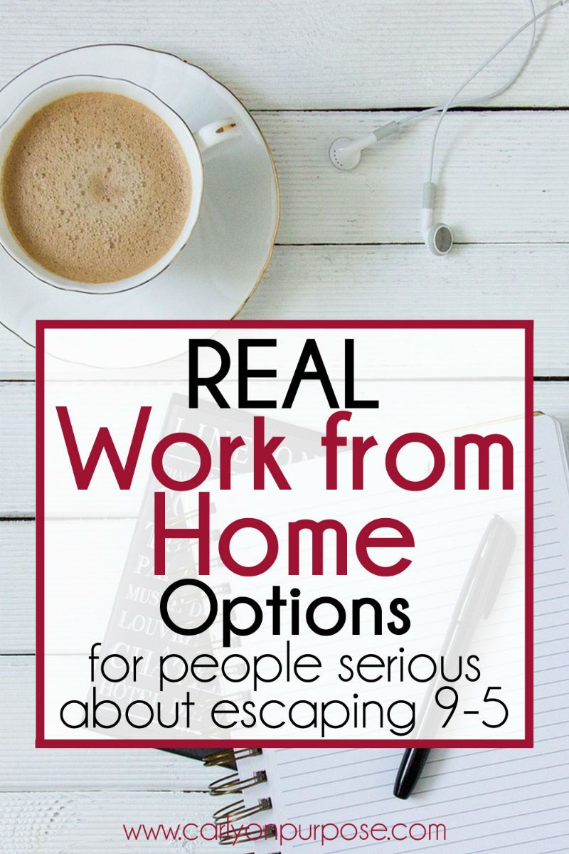 Real Work From Home Options (for People Who Are Serious About ...