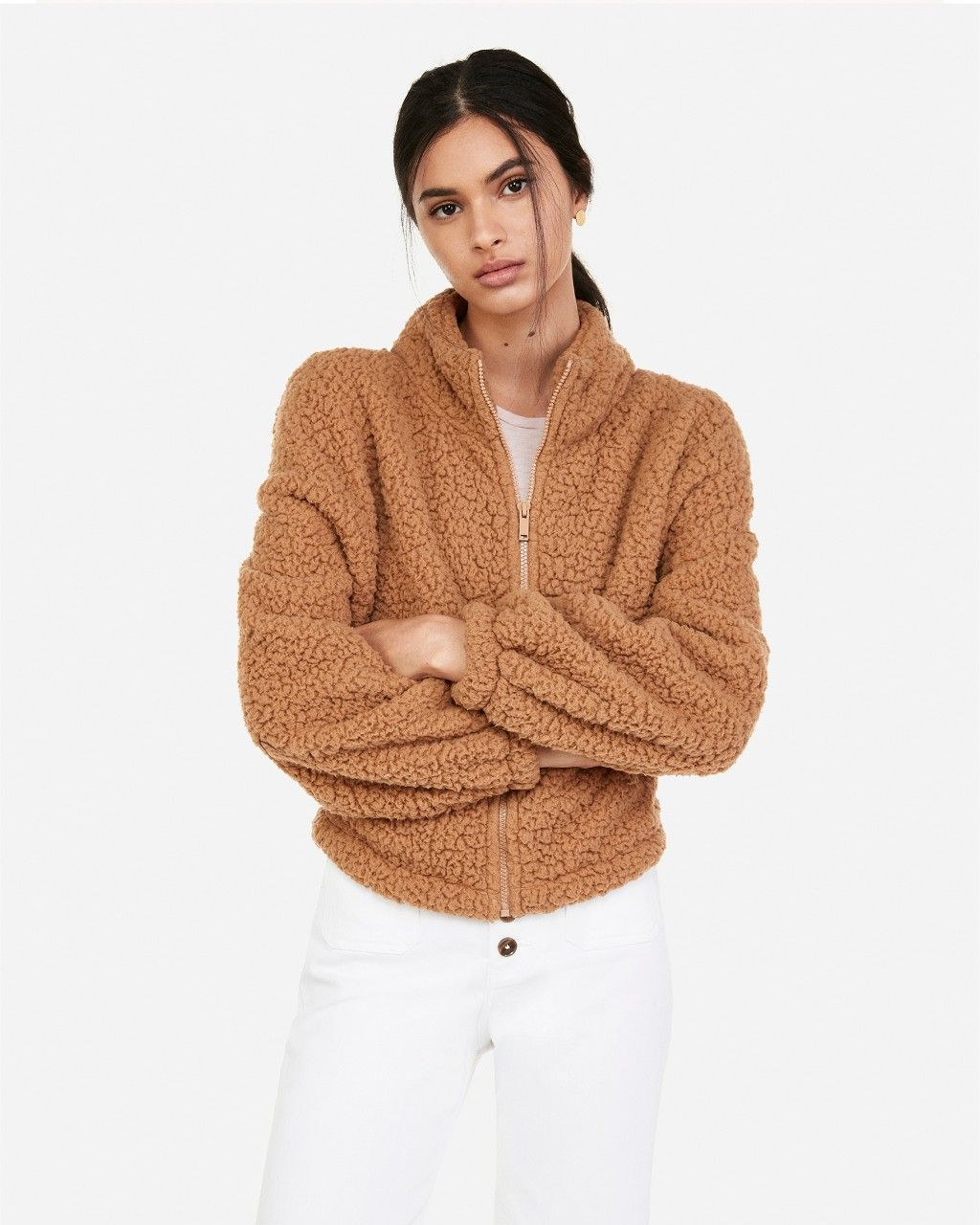 Full zip sweatshirt image by Express on Cozy Up How to