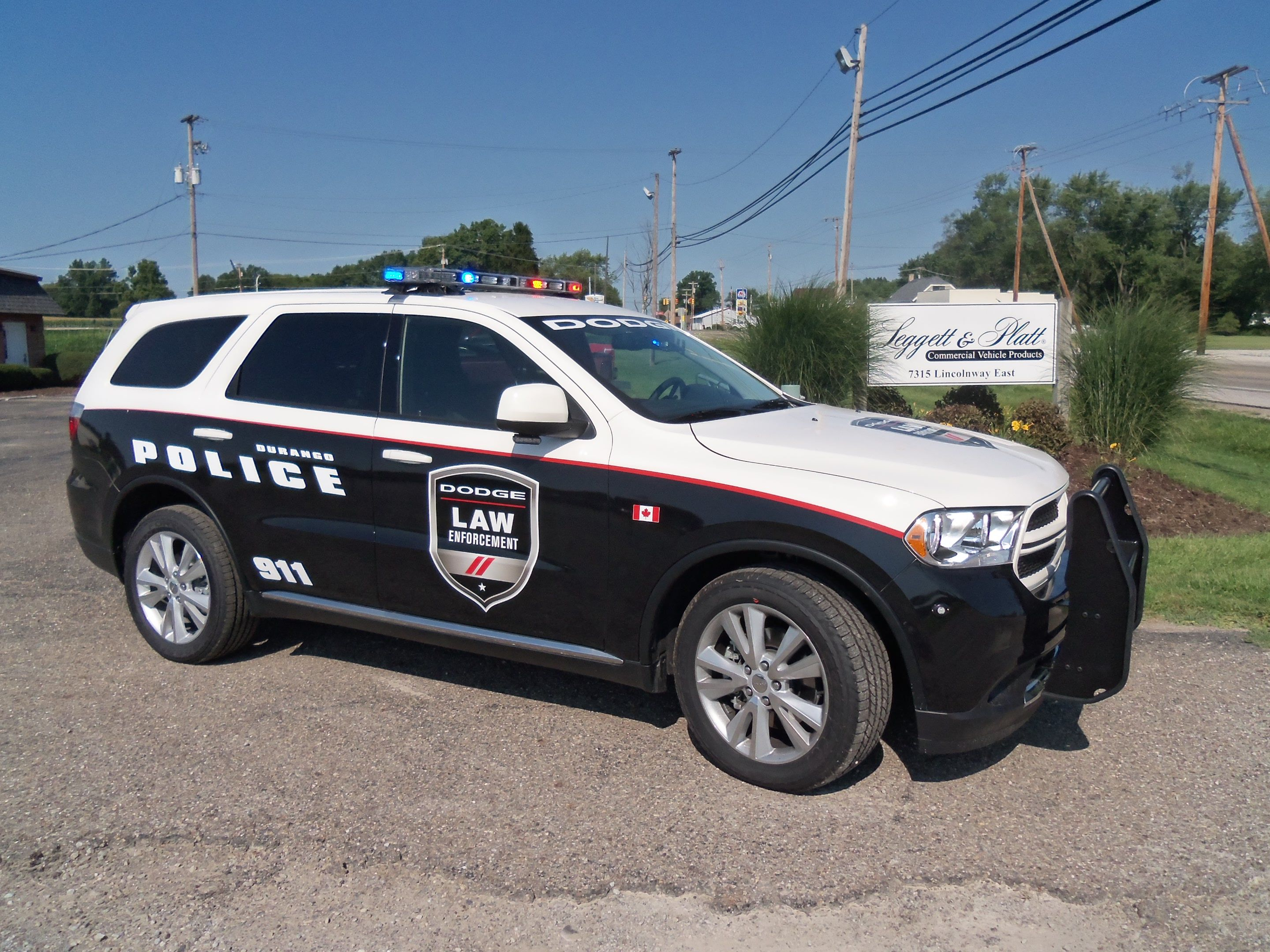 Dodge durango police special service vehicle at crown north america s facility in apple creek ohio