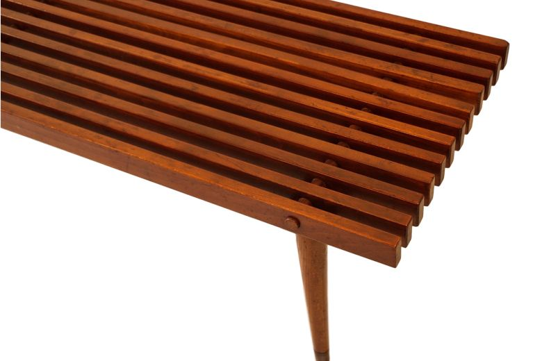 Mid Century Slatted Wood Bench Coffee Table George Nelson | Muebles ...