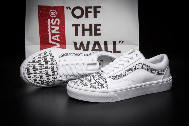 f54751b4ad Vans Fear of God White Old Skool Skate Shoes  Vans