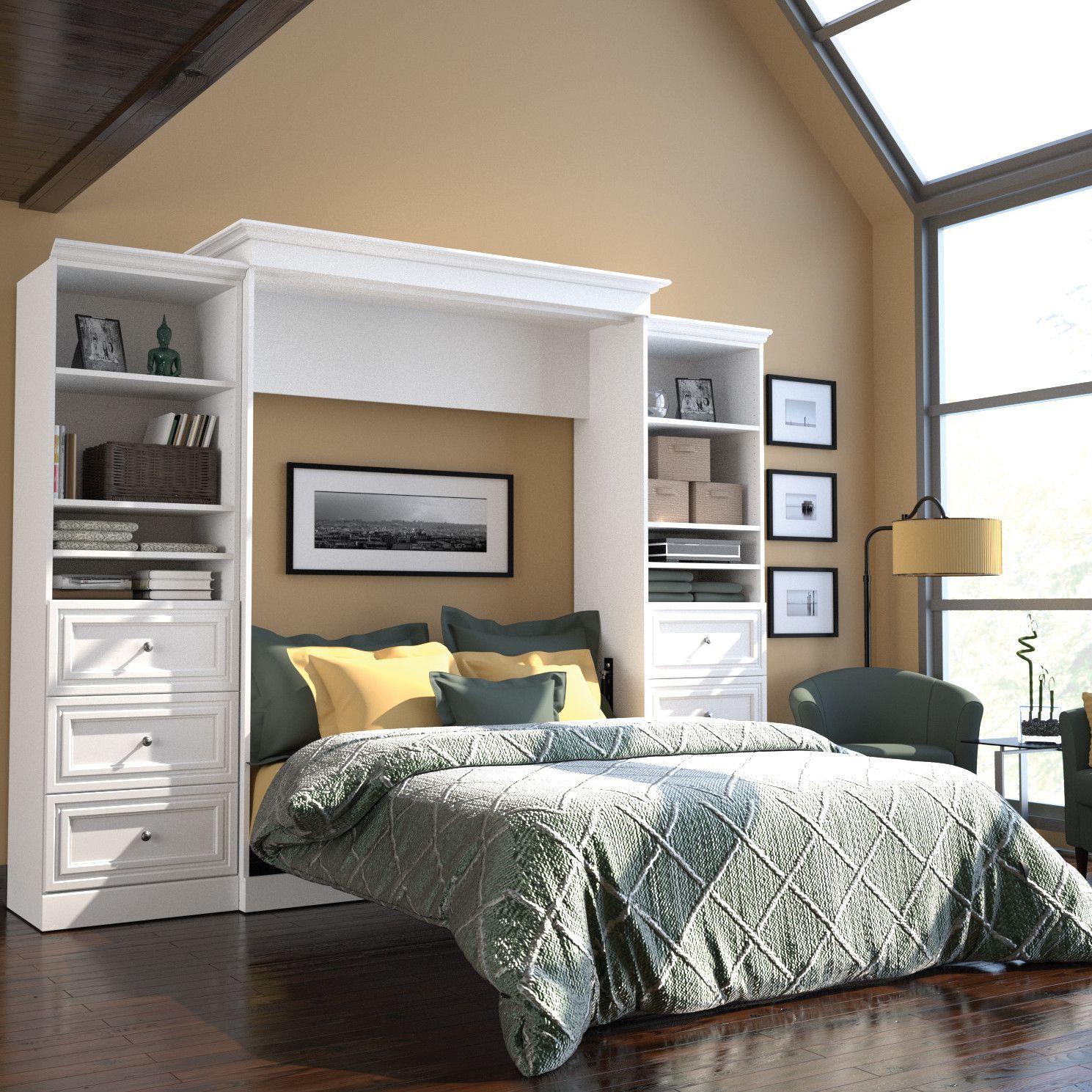 Bestar versatile queen storage wall bed wayfair interior bestar versatile queen storage wall bed wayfair amipublicfo Image collections