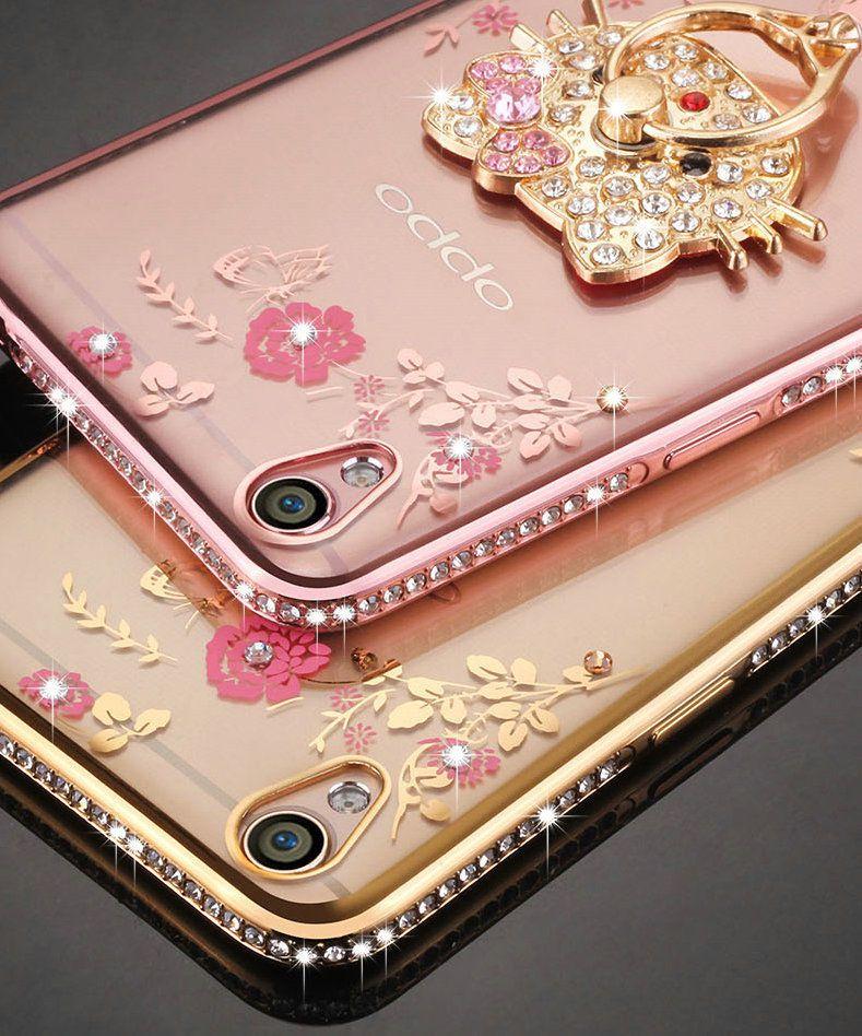 new style b52e4 bf29c 3.98AUD - For Oppo A37/ A37M Luxury Flower Diamond Case Soft Bumper ...