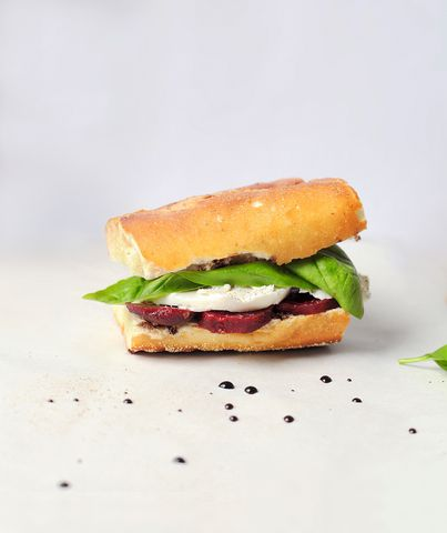 Fresh Mozzarella, Beet, and Basil Sandwiches | Real Simple Mobile