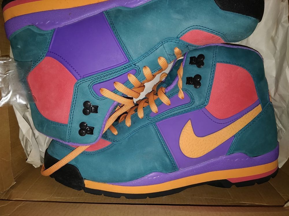 sports shoes e0360 f2e31 Vintage Nike Air Mens Baltoro ACG Boots RARE fresh Prince Multicolored sz  10.5 Nike HikingTrail