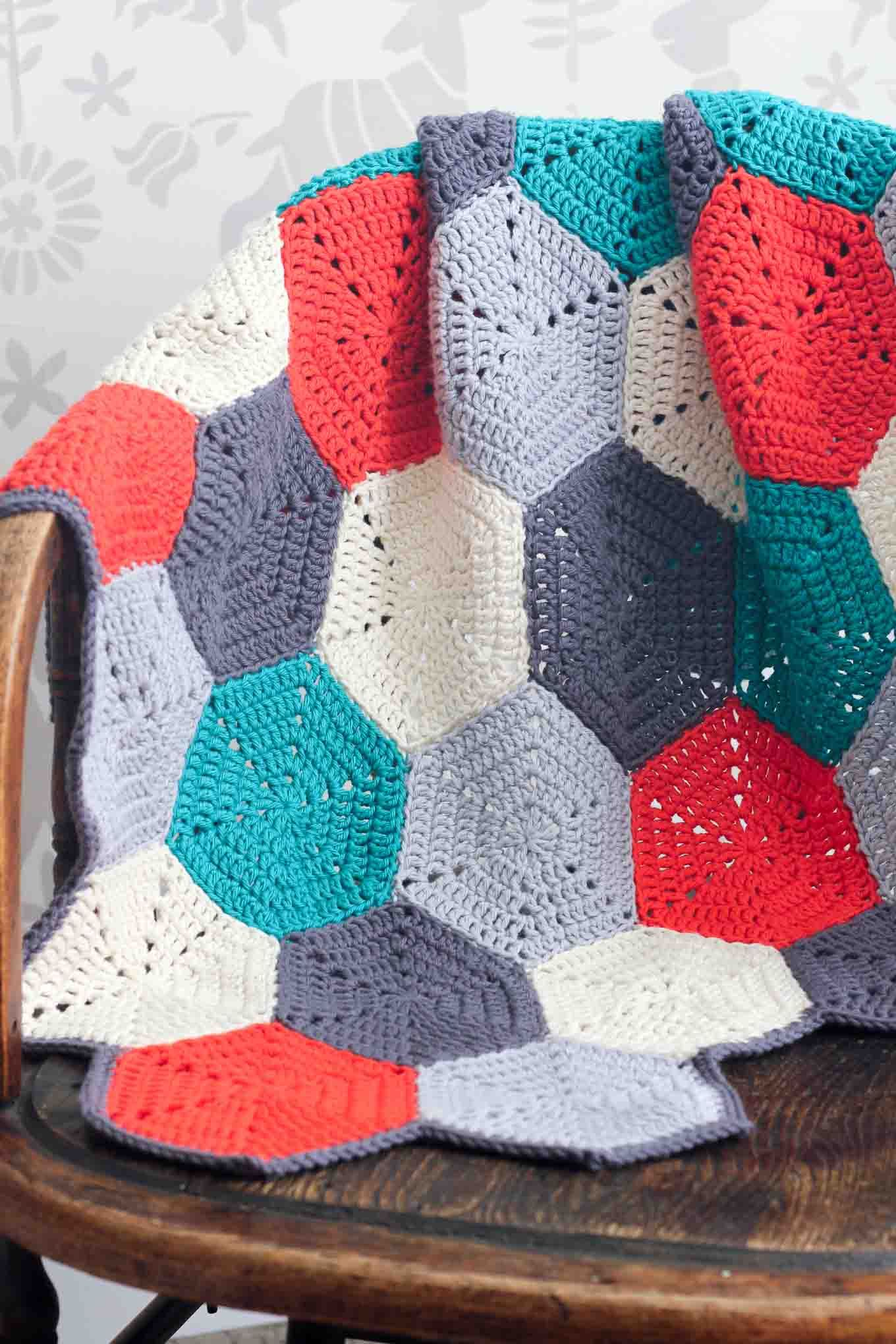 Happy Hexagons\' Free Crochet Afghan Pattern | Ganchillos afganos ...