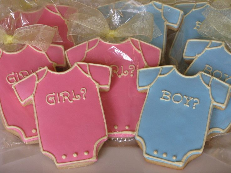 boy?/girl? onesie cookies for a double baby shower  baby shower, Baby shower invitation