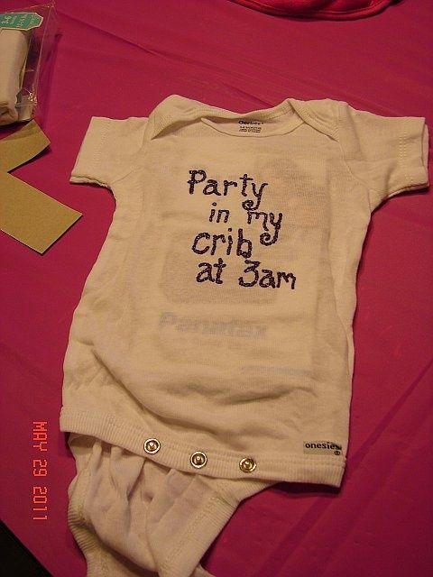 Baby Shower Onesie Decorating Examples   Decorating Onesies
