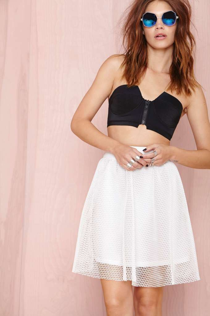 First String Mesh Skirt | Shop Play, Girl at Nasty Gal