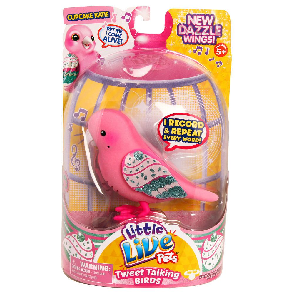 Little Live Pets Season 4 Bird Single Pack Cupcake Katie Little Live Pets Bird Toys Pet Bird