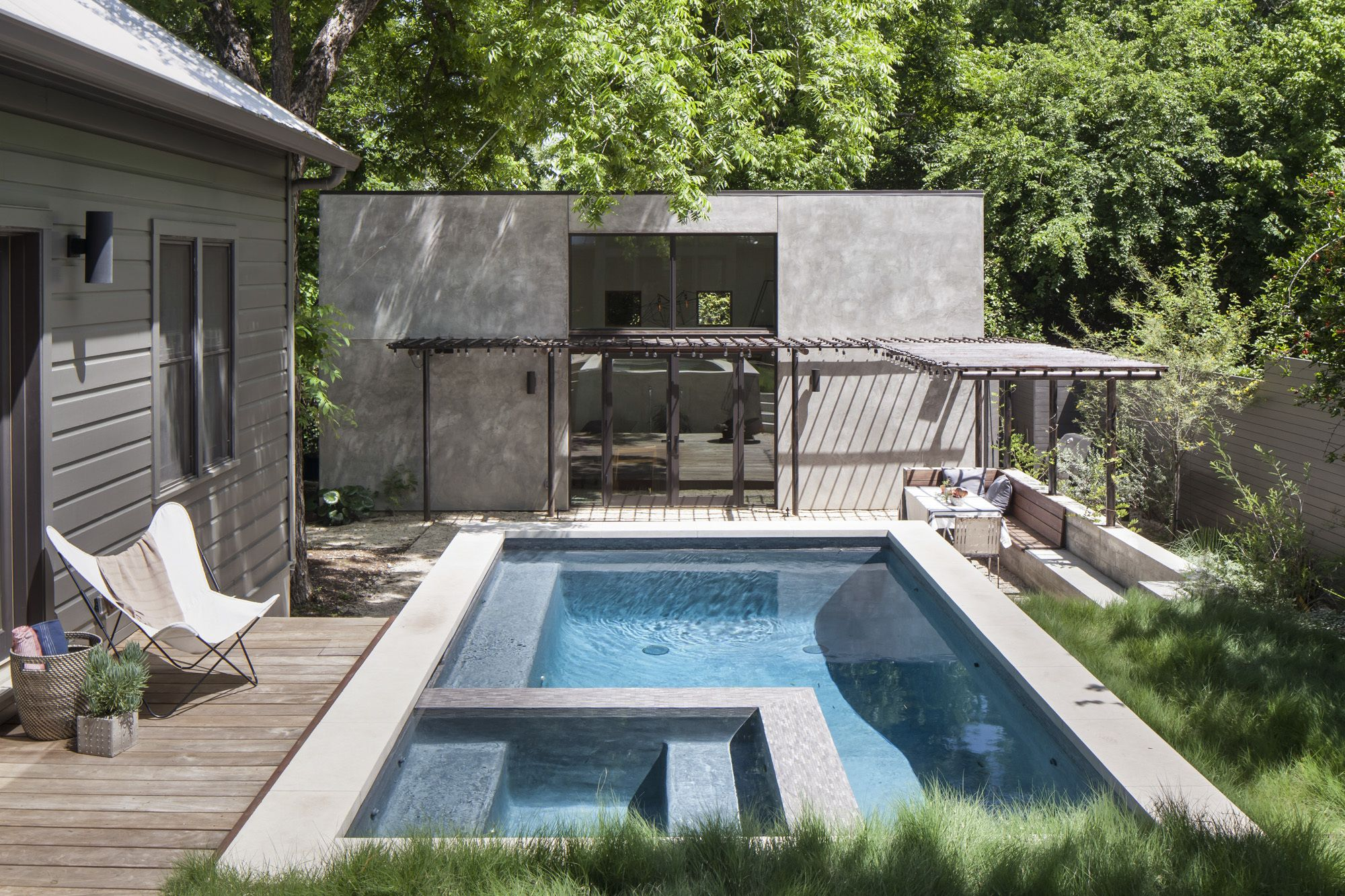 Garner Pool Casita Houses In Austin Backyard Small Backyard