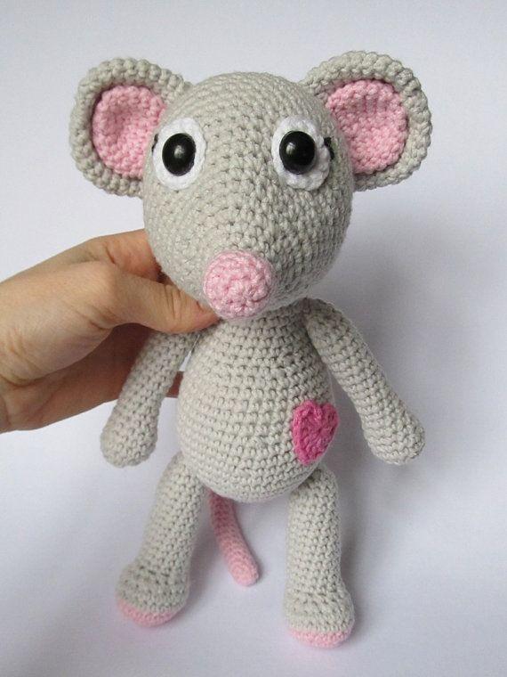 Mouse Tili in Love - Amigurumi Crochet Pattern / PDF e-Book ...