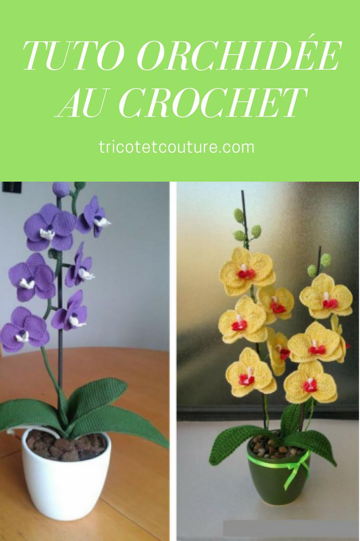 Tuto Orchidee Au Crochet Patrons Pinterest Crochet Tricot And
